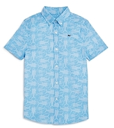 Vineyard Vines Boys' Tuna Batic Button-Down Shirt - Little Kid