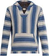 Faherty Terry Baja striped cotton poncho