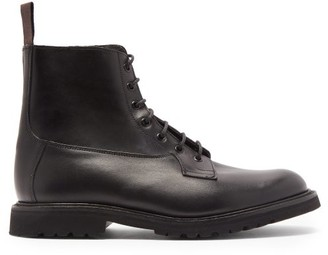 Tricker's Burford Panelled Leather Boots - Black