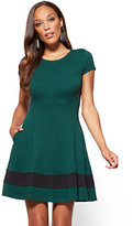 New York & Co. Colorblock Fit and Flare Dress