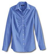 Classic Women's Regular Long Sleeve Ruched Front Stretch Shirt-True Blue