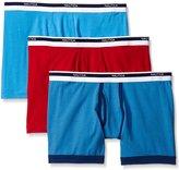 Nautica Men's Cotton Stretch Boxer Brief (Pack of 3)