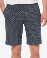 Perry Ellis Men's Geometric-Print Flat-Front Shorts