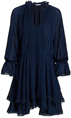 Alice + Olivia Joanne Double Handkerchief Hem Tunic Dress
