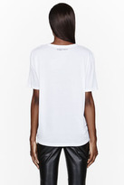 Alexander McQueen Grayscale stained glass and skull graphic t-shirt