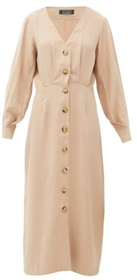 Haight Camila Pleated Midi Dress - Tan