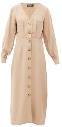 Haight Camila Pleated Midi Dress - Tan