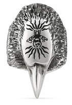 Gucci Anger Forest eagle head ring in silver
