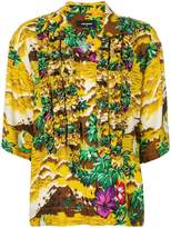 DSQUARED2 printed buttoned T-shirt