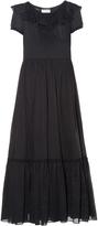 Saint Laurent Ruffled organza maxi dress