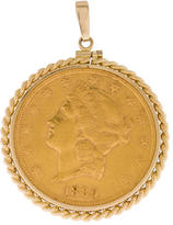 14K Twisted Bezel 1889 Coin Pendant