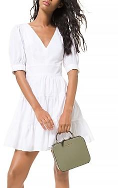 MICHAEL Michael Kors Puff Sleeve Tiered Dress