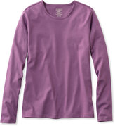 L.L. Bean Pima Cotton Tee, Long-Sleeve Crewneck