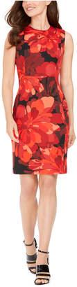 Calvin Klein Big Floral Sheath Dress