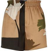River Island Womens Khaki brown print shorts