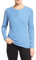 Nordstrom Mitered Rib Cashmere Pullover