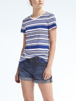 Banana Republic Stripe Supima® Cotton Crew