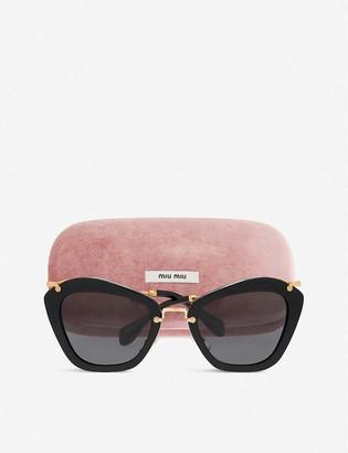 Miu Miu MU10NS Noir cat-eye sunglasses