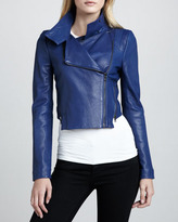 J Brand Ready to Wear Connix Cropped Leather Jacket
