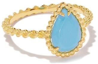 Boucheron 18kt yellow gold Serpent Boheme turquoise S motif ring