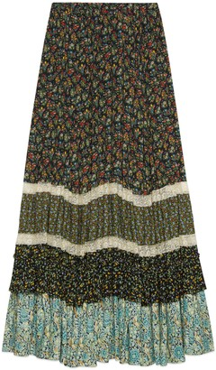 Gucci Liberty floral crepe skirt