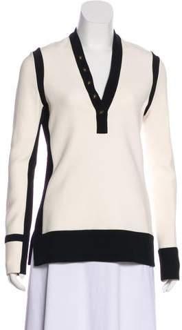 Balenciaga Contrast Long Sleeve Top
