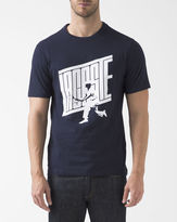 Lacoste Navy Printed Crew Neck T-Shirt