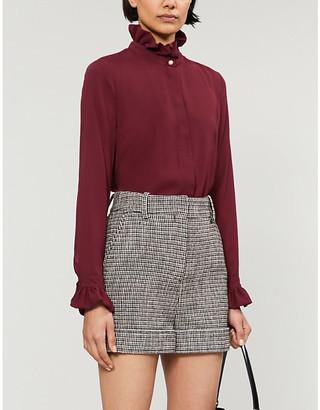 Claudie Pierlot Long-sleeved crepe blouse