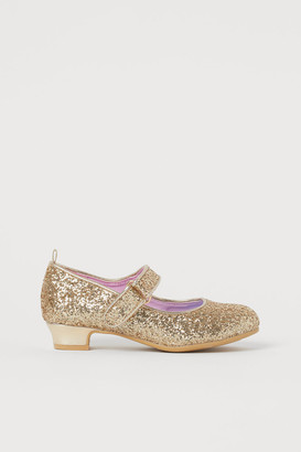 H&M Glittery Dress-up Shoes - Gold