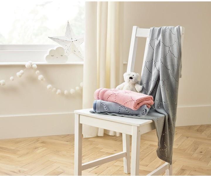 Clair De Lune Cotton Dip Dye Blanket