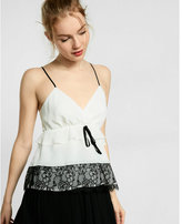 Express tiered lace babydoll top