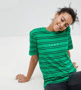 Puma Exclusive To Asos T-Shirt In Green Stripe
