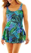 JCPenney Azul by Maxine of Hollywood Princess Seam 1-Piece Swimdress