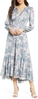 Ever New Floral Long Sleeve High/Low Midi Dress