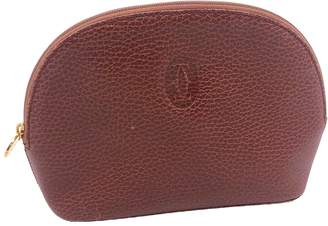 Cartier Brown Leather Travel bags
