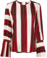 Tory Burch striped flare-sleeve blouse