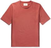 Folk Panelled Cotton-jersey T-shirt - Brick