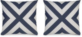 Miles Talbott Collection S/2 Mini Deck 19.5x19.5 Pillows, Indigo