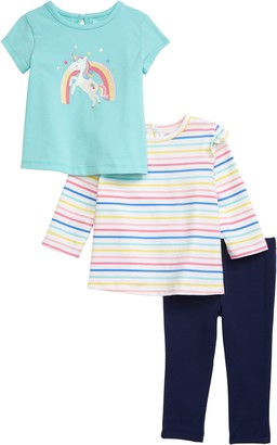 Little Me 3-Piece Tees & Leggings Set