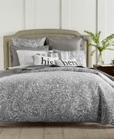 Charter Club Damask Designs Damask Designs Stone Paisley 300-Thread Count 3-Pc. Full/Queen Comforter Set, Created for Macy's