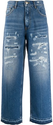 Pinko High-Waisted Cropped Jeans