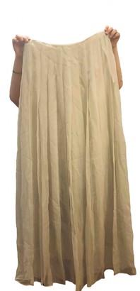 Krizia White Silk Skirts