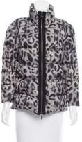 Moncler Gamme Rouge Leopard Print Puffer Jackett