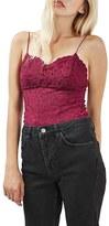Topshop Women's Scalloped Lace Bodysuit