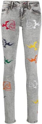 Philipp Plein Rainbow Skull jeans