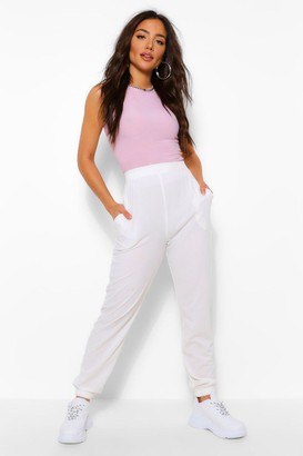 boohoo Loose Fit Ribbed Joggers