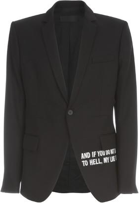 Haider Ackermann Cross Dart Blazer W/emboidery