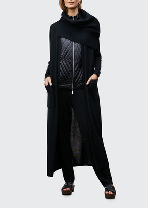 Lafayette 148 New York Belted Long Cardigan with Pockets