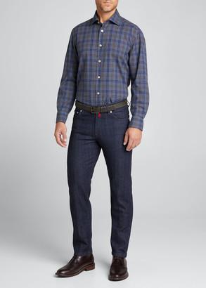Kiton Men's Classic Dark-Wash Jeans