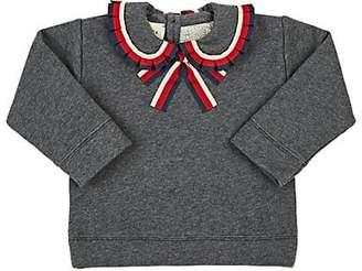 Gucci Infants' Ribbon-Trimmed Cotton Terry Sweatshirt - Gray